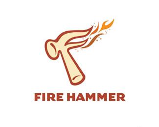 fire hammer火錘標志設計