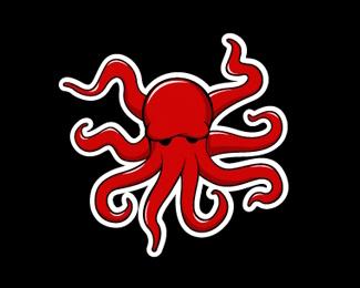 章魚卡通標志