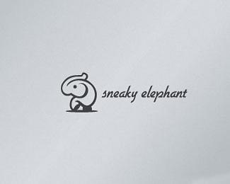 快乐的大象标识
