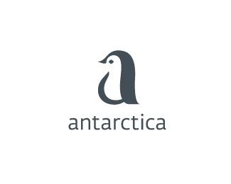 antarctica南極洲企鵝標志