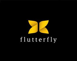 蝴蝶logo设计