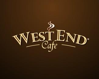 西端咖啡标志设计