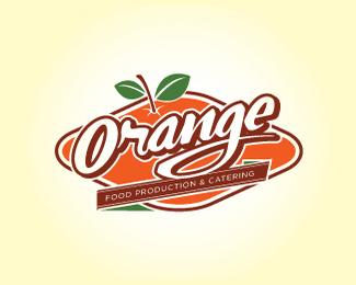 青島橙汁飲品店標志設計