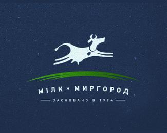 乌克兰牛奶制造商标志设计