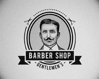 北海理发店标志设计