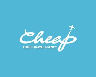廉價航班旅行社標志設計