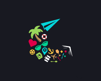 旅游度假logo標志設計