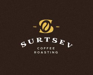咖啡店SURTSEV标志设计