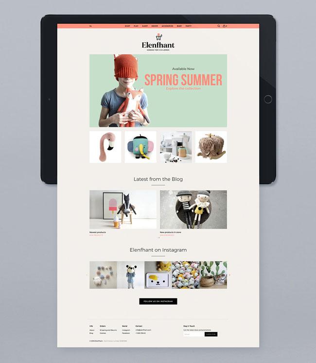 Elenfhant儿童用品标志设计和品牌VI设计