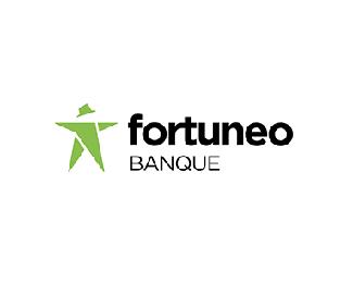 法国领先的网上银行Fortuneo品牌形象logo设计