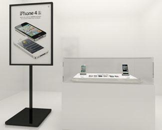 中国电信 iPhone 4S陈列设计、物料包装制作