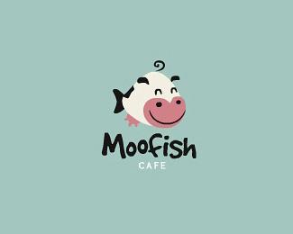 moofish咖啡厅标志设计欣赏
