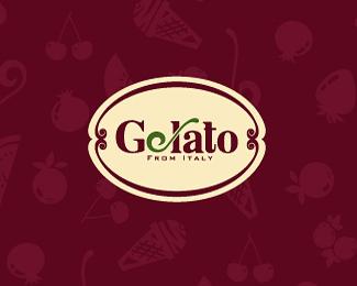 吉拉多冰淇淋标识