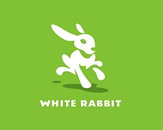大白兔标志设计