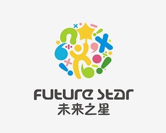 未来之星,少儿教育机构标志