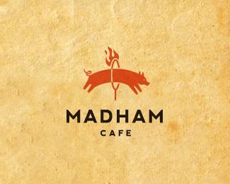 疯狂火腿咖啡厅标志