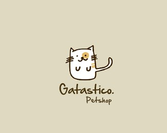 猫咪宠物店标志