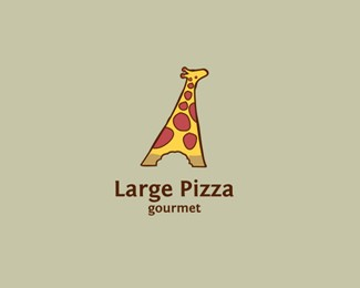 长颈鹿披萨店标志设计