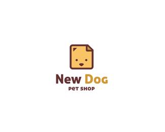 可爱的小狗标志