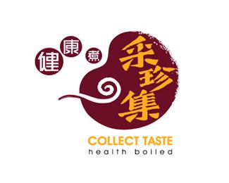 来宾采珍集餐饮管理机构标志设计