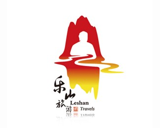 桂林旅游景点乐山大佛标志