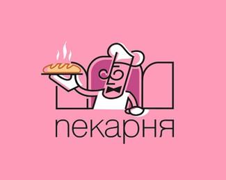 浪漫的面包店标志