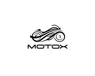 摩托车MOTOX标志