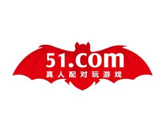 51游戏社区蝙蝠标志