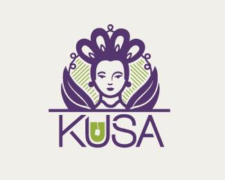 茶叶商店KUSA标志