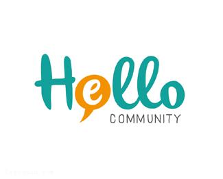 英语学习俱乐部Hello标志